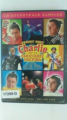 DVD CD SOUNDTRACK SAMPLER CHARLIE AND THE CHOCOLATE FACTORY Johnny Depp 07