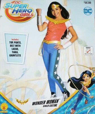 Small Rubies Official Deluxe Wonder Woman Fancy Dress Children Costume for 3-4 Years