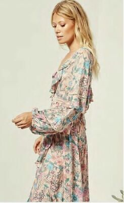 deaed430e05 SPELL DESIGNS GYPSY Collective Sayulita Frill Gown Musk Maxi dress M ...