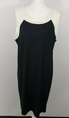 bdafc65df51 J Jill Wearever Collection Black White Sleeveless Pullover sheath Dress L  petite