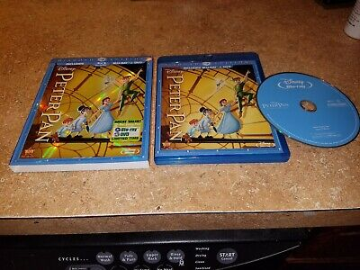 Peter Pan (Blu-ray/DVD, 2013, 2-Disc Set, Diamond Edition) W/slipcover EXCELLENT