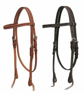 Showman Oiled Harness Leather Barbed Wire Tooled Slobber Straps NEW HORSE TACK!