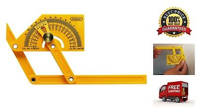 0° to 180° Plastic Protractor and Angle Finder Lightweight Durable Precise Tool