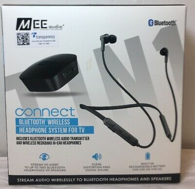 37e08e9094b MEE audio Connect T1N1 Neckband Bluetooth Wireless Headphone System for TV