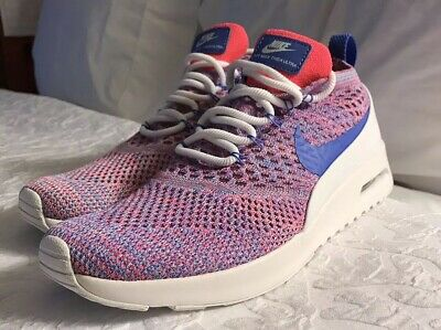 5ae5d9f16f Nike Air Max Thea Ultra Flyknit Women's Size 10 Pink White Blue 881175-100  NEW