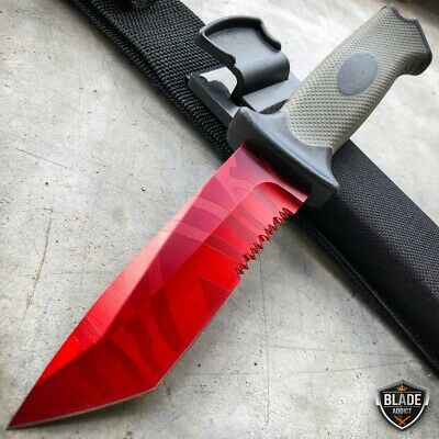 "9.5"" Tactical CSGO Ursus Fixed Blade Counter Strike Hunting Knife Red Slaughter"