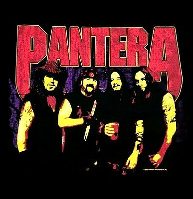 PANTERA cd lgo GROUP PHOTO BACKSTAGE SHIRT LAST SMALL New OOP cowboys from hell