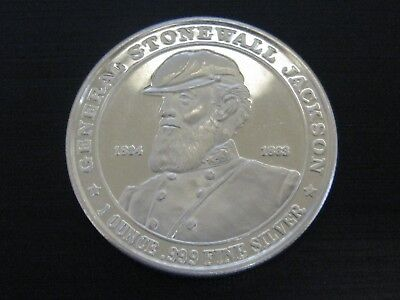 General Stonewall Jackson 1-oz Silver Round-Confederate States-Deo Vindice 1862
