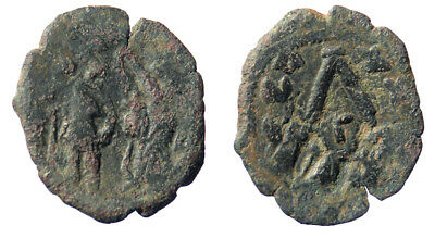 Byzantine Heraclius Three-quarter Follis Constantinople mint