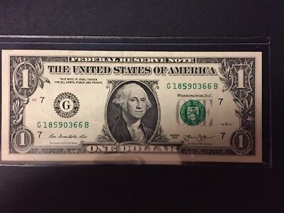 1 Dollar Bill With Over Inked 5
