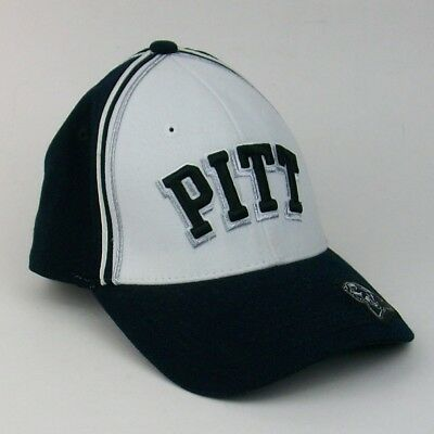 detailed look 12a85 abe04 Pittsburgh Panthers NCAA Black White Cap Hat PITT University Snapback NICE