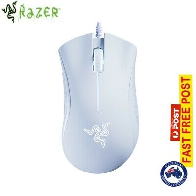 White USB Wired Mouse Razer Death Adder Essential Ergonomic Gaming Mouse