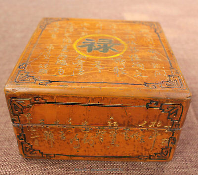 Chinese antique rosewood hand carved ancient Paul LU box case cabinet statue