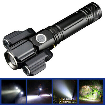 Outdoor LED Rotatable 4Modes Light Flashlight Torch USB Riding Night Fishing