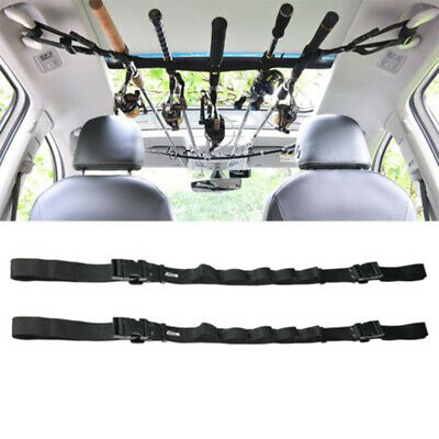 Car Fishing Rod Carrier Rod Holder Belt Strap With Tie Suspenders Wrap 5 Roads