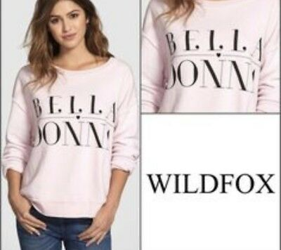 b3bbf52be5 NWT $98 Wildfox Baggy Beach Jumper Sweatshirt BELLA DONNA Pullover ToP  EXCLUSIVE