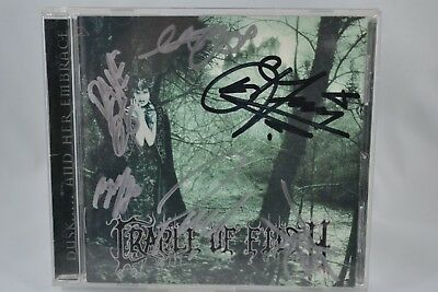 CRADLE OF FILTH Dusk and Her Embrace CD 2001 Koch SIGNED AUTOGRAPHED