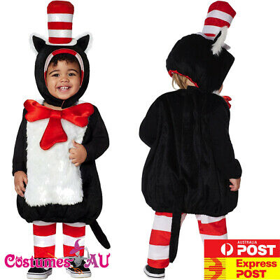 6c34a77d Kids Toddler Dr Seuss Cat In The Hat Costume Party Book Week Boys Child  Outfit