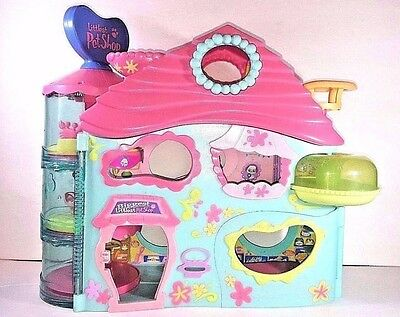 Lps - Rare! 2005 Hasbro Biggest Littlest Pet Shop Large Play Set With Key Toy
