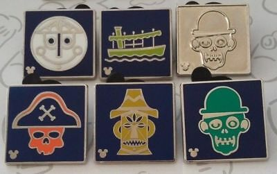 Attraction Icons 2017 Hidden Mickey DLR Disney Trading Pin Make a Set Lot