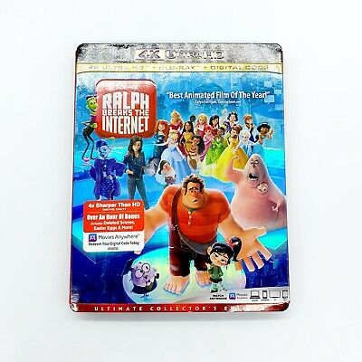 Disney's Ralph Breaks the Internet 4K Ultra + BluRay Slipcover No Digital Code