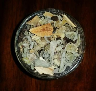 Smudge Kit Spiritual Gift Party of Six 4 oz Vol Sage Resin Incense Palo Santo