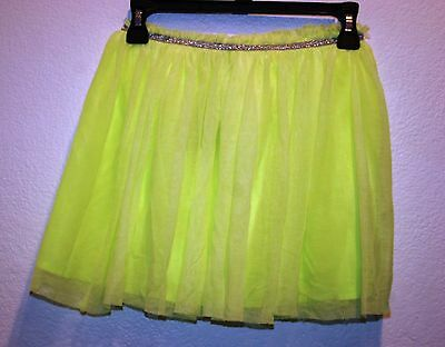 Zara Girls Casual Collection Tulle Pleated Skirt Green  Size  9/10