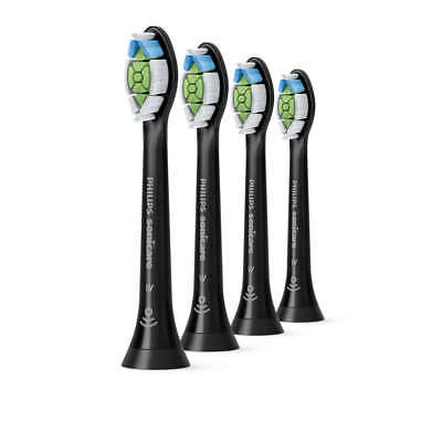 Philips Sonicare Optimal White Ersatzbürsten Black HX6064/11 standard 4'er Pack