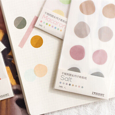 Stationery Stickers Writeable Adhesive Diary Label Irregular circle Sticker