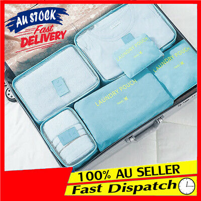 Pouch Suitcase 6pcs Luggage Organizer Packing Storage Cube Cloth Sock Bag Travel
