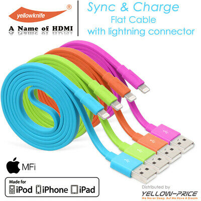 FLAT 1M/50CM Charge Cable For iPhone XS Max XR 8 iPad Air 2019 Mini 5 iPod Touch