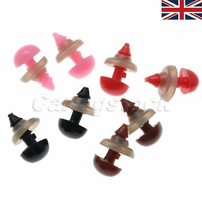 50pcs Plastic Safety Nose Triangle For Doll Teddy 8x6mm With Washers