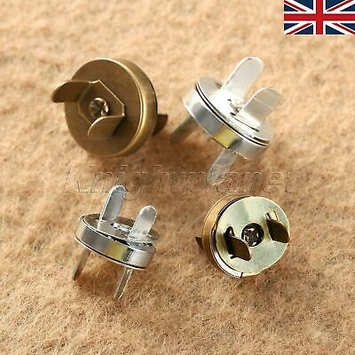 UK STOCK 10/50Set Magnetic Fastener Snaps Clasp F Purse Bag Sewing Craft 14/18mm