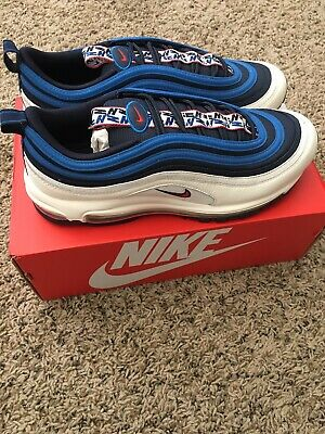 separation shoes 72958 bb87e NIKE AIR MAX 97 Pull Tab Obsidian Size 10.5 New DS Blue White