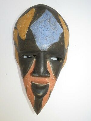 Beautiful wooden african Art Mask, Authentic Carved Wood Sculpture