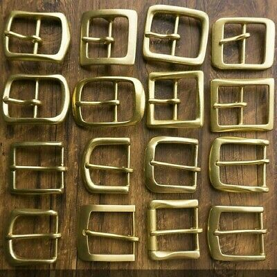 1PCS Solid Brass Pin Buckle for Men Leather Belt Replacement Strap DIY Accessory