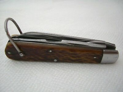 WWII 4 line CAMILLUS CUTLERY CO TL-29 Electrician Folding Pocket Knife VERY RARE