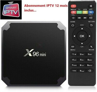 X96 mini 4K TV Box Android 7.1.2 WiFi + 12000 chaines + Adult  pendant 1 an