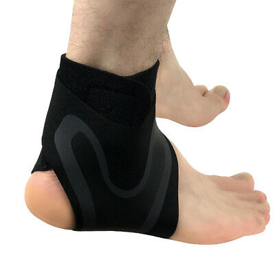 HK- Elastic Ankle Foot Support Brace Sleeve Guard Football Basketball Protector
