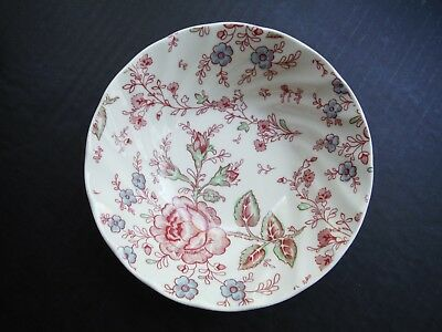 """Johnson Brothers Bros Rose Chintz Pink Cereal Bowl 6 1/8"""""""