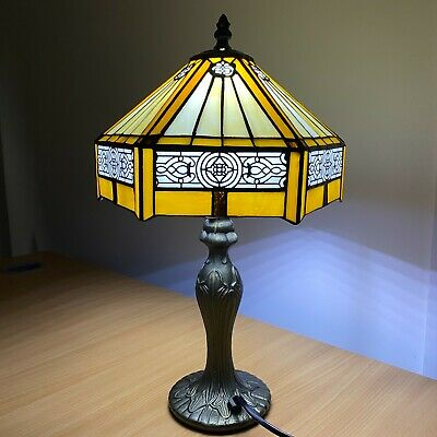 "Antique Style Table Lamp Hand Crafted 12"" shade Bed/Living Room New TIFFANY Lamp"