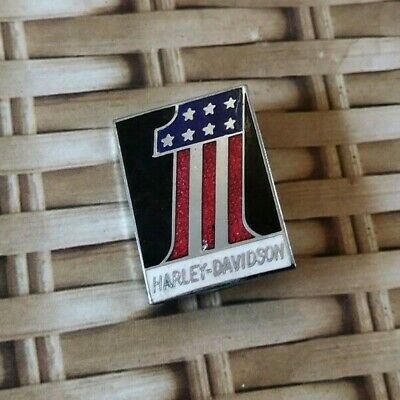 Motorcycle Motorbike Enamel Pin Badge Harley Davidson 1 USA Flag CLEARANCE