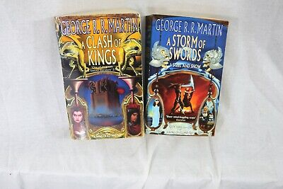 RARE Game of Thrones Paperback Editions Voyager Storm of Swords, Clash of Kings
