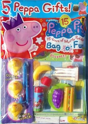 PEPPA PIG BAG OF FUN MAGAZINE ISSUE #113 ~ NEW WITH 4 x PEPPA GIFTS ~