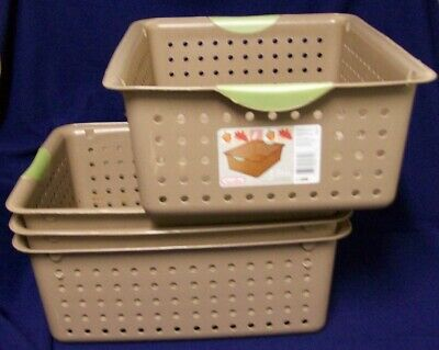 Restaurant Equipment Bar Supplies 4 STERILITE LARGE ULTRA BASKETS BROWN