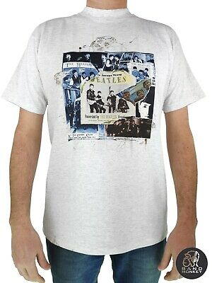 Mens The Beatles Montage T-Shirt White