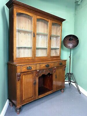 An Antique Victorian Oak Dresser Sideboard Bookcase ~Delivery Available~