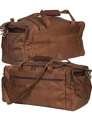 Scully 802-17 Tan Harness Leather Cargo Duffel Bag