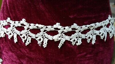 Victorian Trading Co 15 YD Vtg Guipure Venice Venetian Floral Lace Ivory B 14B