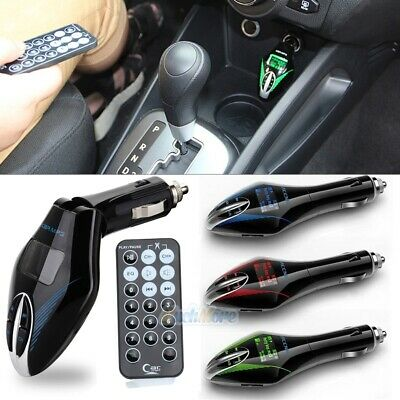 In-Car MP3 Player Wireless FM Transmitter Modulator 3.5mm USB SD MMC LCD Remote